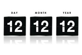 12-12-12: quando il calendario rappresenta un qualcosa di magico.