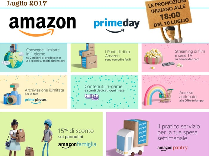 Amazon Prime Day 2017: offerte in tempo reale