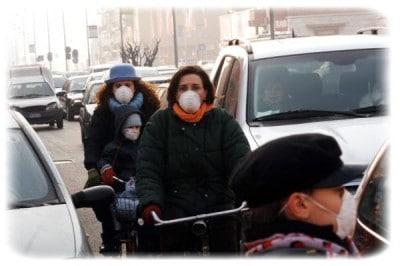 aumenta ta la percentuale di infarti ; è tutta colpa dello smog