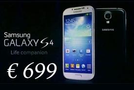 Il Samsung Galaxy S4 sbarca in Italia a 699 euro