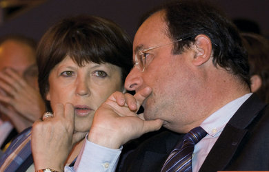 Aubry e Hollande, i due candidati alle primarie francesi