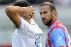 Lazio, tonfo contro il Catania