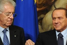 Monti contro Berlusconi: se vince il Cavaliere siamo a rischio spread