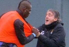 Balotelli-Mancini: è rissa in allenamento